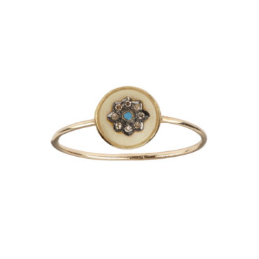 Isa Ivory Ring by 5 Octobre available to shop online at tomfoolery London.