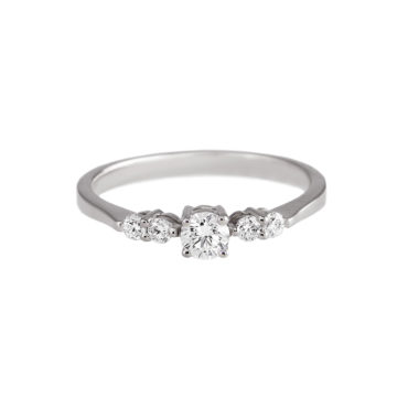Linear Diamond Cluster Ring by tf Diamonds - available at tomfoolery london