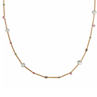 Arnie collar gemstone necklace by 5 Octobre available to shop online at tomfoolery London.