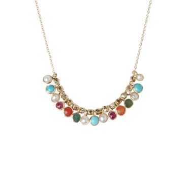 Mitch gemstone necklace by 5 Octobre available to shop online at tomfoolery London.