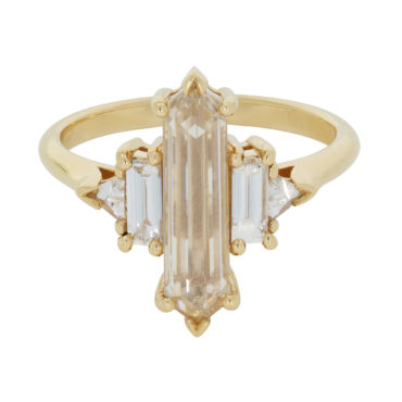 TF Exclusive Champagne Hexa Ring by Anna Sheffield available at tomfoolerylondon.co.uk