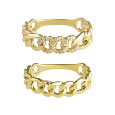 Cuban chain Ring by tf Diamonds - available at tomfoolery london