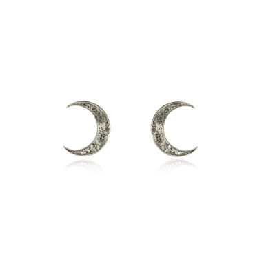 Crescent moon studs medium by Momocreatura. Shop momocreatura at tomfoolery london.