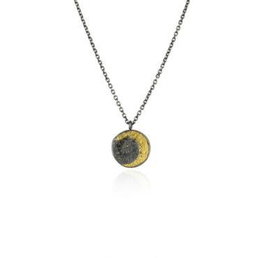 Moon disc necklace small by Momocreatura. Shop momocreatura at tomfoolery london.