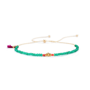 Noor Bracelet in Emerald by SHASHI. Available at tomfoolery london