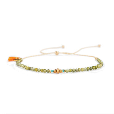 Noor Bracelet in Peridot by SHASHI. Available at tomfoolery london
