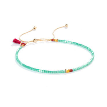 Sam Bracelet in Aqua by SHASHI. Available at tomfoolery london
