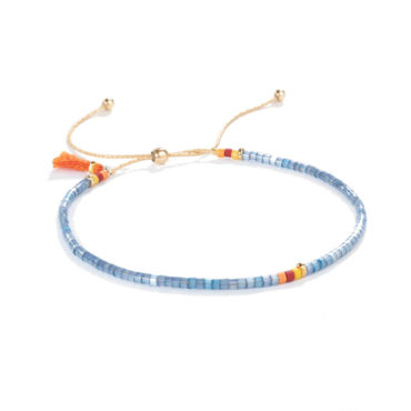 Sam Bracelet in Denim by SHASHI. Available at tomfoolery london