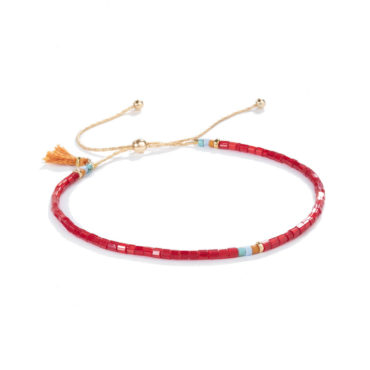 Sam Bracelet in Ruby by SHASHI. Available at tomfoolery london