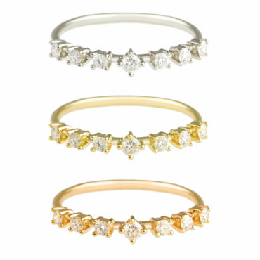 Floating Diamond Half Eternity Ring by tf Diamonds - available at tomfoolery london