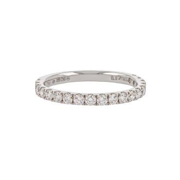 White Diamond Half Eternity Ring by tf Diamonds - available at tomfoolery london