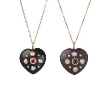 Ivory Heart Pendant by 5 Octobre available to shop online at tomfoolery London.