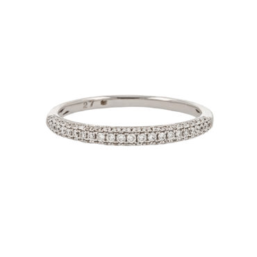 Micropave Diamond Half Eternity Ring by tf Diamonds - available at tomfoolery london
