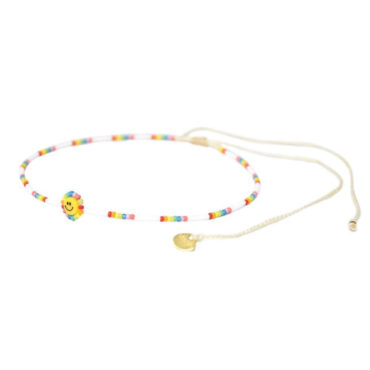 Happy Rainbow Friendship Bracelet by Mishky available to shop online at tomfoolery London
