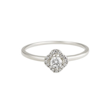 Flower Halo Diamond Solitaire Ring by tf Diamonds - available at tomfoolery london