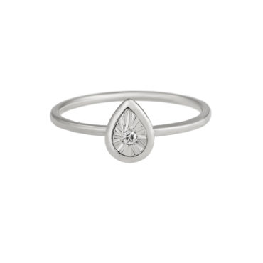 Pear Button Diamond Ring by tf Diamonds - available at tomfoolery london