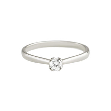 Petal-Set Diamond Solitaire Ring by tf Diamonds - available at tomfoolery london