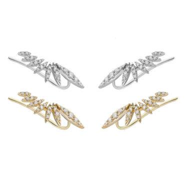 Plume Diamond Ear Climber by tf Diamonds - available at tomfoolery london