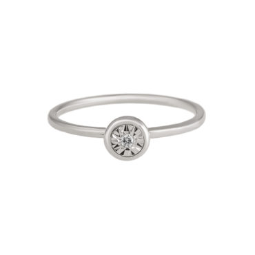 Round Button Diamond Ring by tf Diamonds - available at tomfoolery london