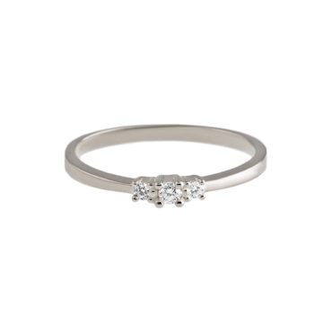 Delicate Diamond Trilogy Ring by tf Diamonds - available at tomfoolery london