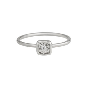 Cushion Button Diamond Ring by tf Diamonds - available at tomfoolery london