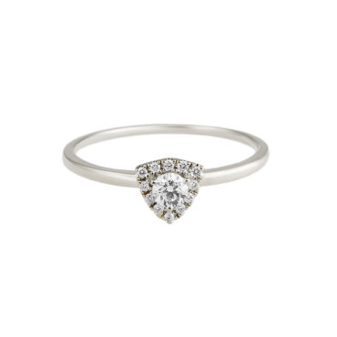 Triangle Halo Diamond Solitaire Ring by tf Diamonds - available at tomfoolery london