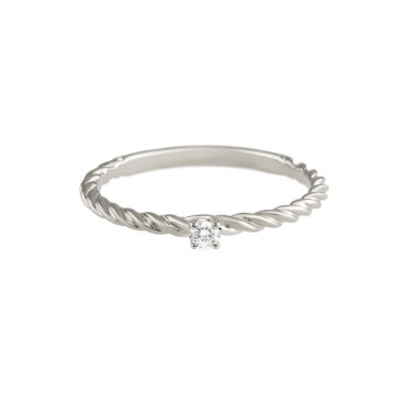 Twisted Diamond Solitaire Ring by tf Diamonds - available at tomfoolery london