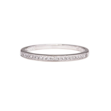 Micropave White Diamond Half Eternity Ring by tf Diamonds - available at tomfoolery london